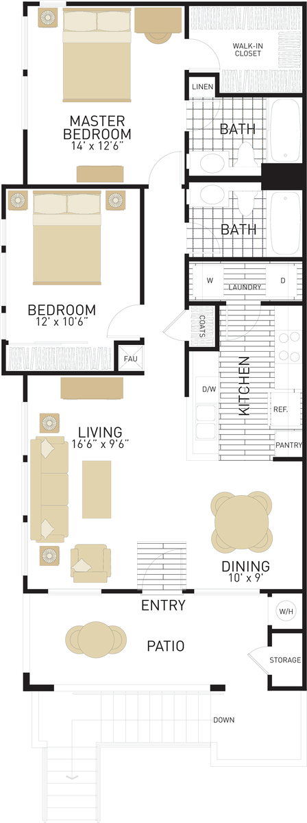 Santa Maria Apartments in Westpark Irvine for Rent on 2 story floor plans, hi-line homes in oregon, large open concept floor plans, hawaiian restaurant floor plans, round in a two story building floor plans, hi-line homes custom,