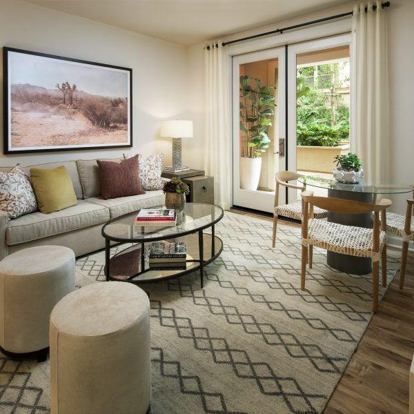 Living room area of Westview at Irvine Spectrum Apartment Homes in Irvine, CA.