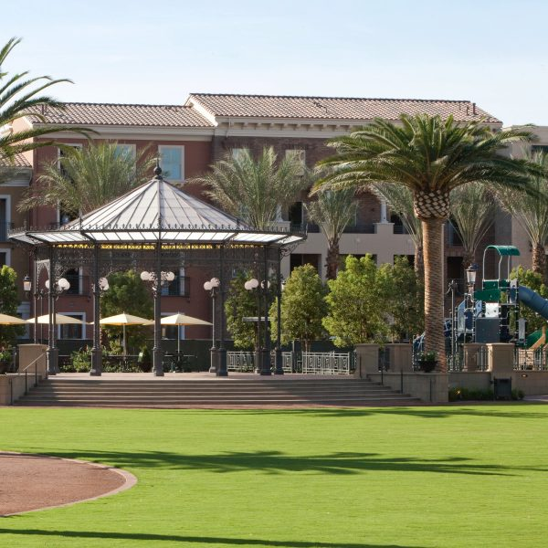Exterior view of The Park at Irvine Spectrum Center Apartment Homes. Lamb 2009. Hard Drive Submission - November 18, 2009.